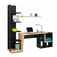 Writing desk with bookcase URBAN - 6 Urban Collection by GAUTIER FRANCE