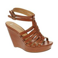 ASOS | ASOS HENNA Plaited Leather Wedge at ASOS