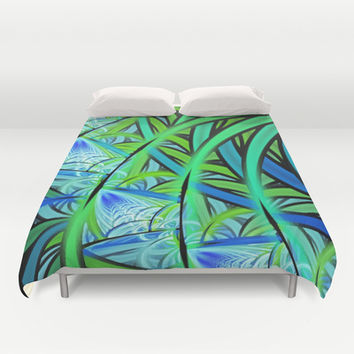 Jungle Waterfall Duvet Cover by Lyle Hatch