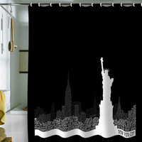 DENY Designs Home Accessories | Restudio Designs New York Skyline 4 Shower Curtain