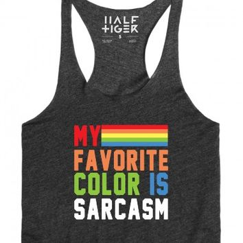 My Favorite Color is Sarcasm-Unisex Heather Onyx T-Shirt