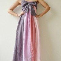 The Line Part II ...Pink Purple Maxi Cotton dress