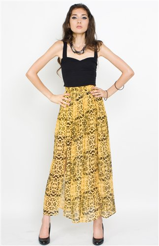 Ladakh Total Engagement Skirt - Ladakh Printed Slit Skirt- $80.99
