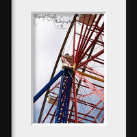 Carnival Rides Ferris Wheel Print Photo Decor Wall Photography Children&#x27;s Playroom Art