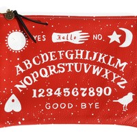 Witchboard print clutch by Falconwright