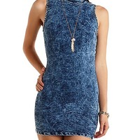 Acid Wash Bodycon Dress by Charlotte Russe - Med Acid Wash