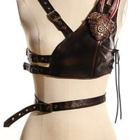 RQBL Steampunk Heart Harness