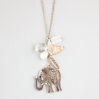 FULL TILT Elephant Leaf Charm Necklace 234149621 | Necklaces