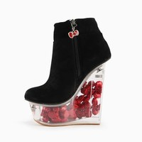 Jeffrey Campbell x Hello Kitty: Suede Icy Bootie