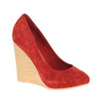 PAVE THE WAY Suede & Raffia Wedge Shoe at ASOS