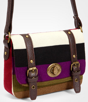 Bold Stripe Satchel