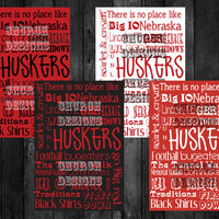Nebraska Cornhusker Printable Subway Art 5x7 or 8x10