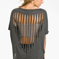 Lush Slash Back Tee (Juniors) | Nordstrom