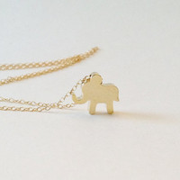 Lucky Elephant Necklace, Elephant Charm, Good Luck Elephant