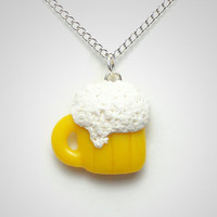 Beer Necklace - Unique Polymer Clay Party Jewelry