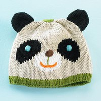 The Land of Nod: Baby Animal Hat: Tan Panda Baby Hat in All Clothing