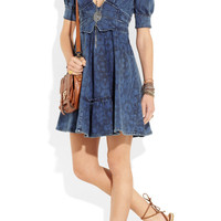 Just Cavalli | Embellished denim dress | NET-A-PORTER.COM