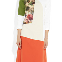 Preen | Rose color-block cotton-blend dress | NET-A-PORTER.COM