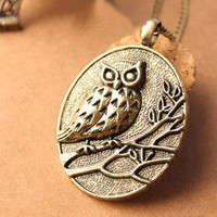 Discount China china wholesale Owl Branches Owal Retro Sweater Chain Pendant 6461 [6461] - US$1.49 : Bluelans