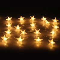 InnooTech Bright Star String Lights Battery Operated 30 LED Warm White for Outdoor Indoor