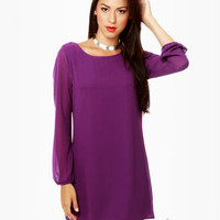 Beautiful Purple Dress - Shift Dress - $40.00
