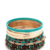 beaded-bangle-set SEAFOAMGLD - GoJane.com