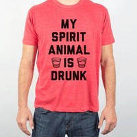 My Spirit Animal Is Drunk-Unisex Athletic Grey T-Shirt