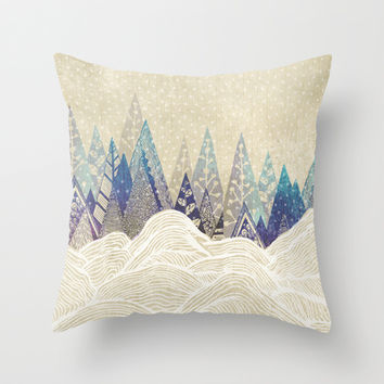 Snowy Dreams  Throw Pillow by rskinner1122