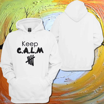 5SOS 5second Of Summer Keep C.A.L.M calum hood,Luke Hemmings,Ashton Irwin,Michael Clifford Hoodie For Women Men