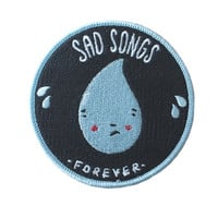Sad Songs iron-on patch - Default Title