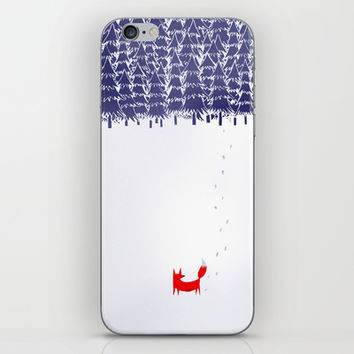 Alone in the forest iPhone & iPod Skin by Robert Farkas
