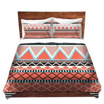 Duvet Covers and Shams Unique Decorative Designer | Organic Saturation's Coral Tribal