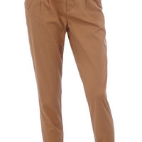 Neutral belted peg trousers - View All - New In - Dorothy Perkins