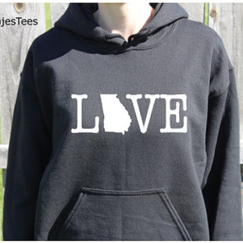 Love Georgia Hoodie, Georgia Sweatshirt, Home, State