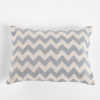 Urban Outfitters - Crewel Embroidered Zigzag Pillow