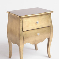 Brass Leaf Side Table
