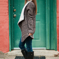 From My Heart Cardigan, Brown/Black
