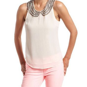 Jeweled Peter Pan Collar Blouse: Charlotte Russe