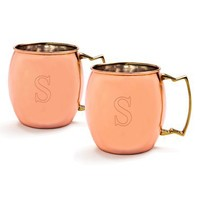 Cathy's Concepts Personalized Moscow Mule Copper Mugs (Set of 2)