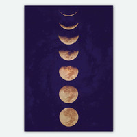 Moon Phases, Poster Art, Free Shipping Everywhere