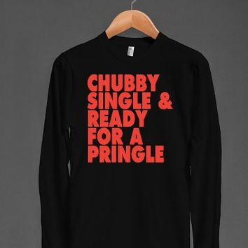 Chubby Single & Ready For A Pringle (Dark Tank Top) |