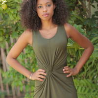 'Going Places' Twist Front Dress