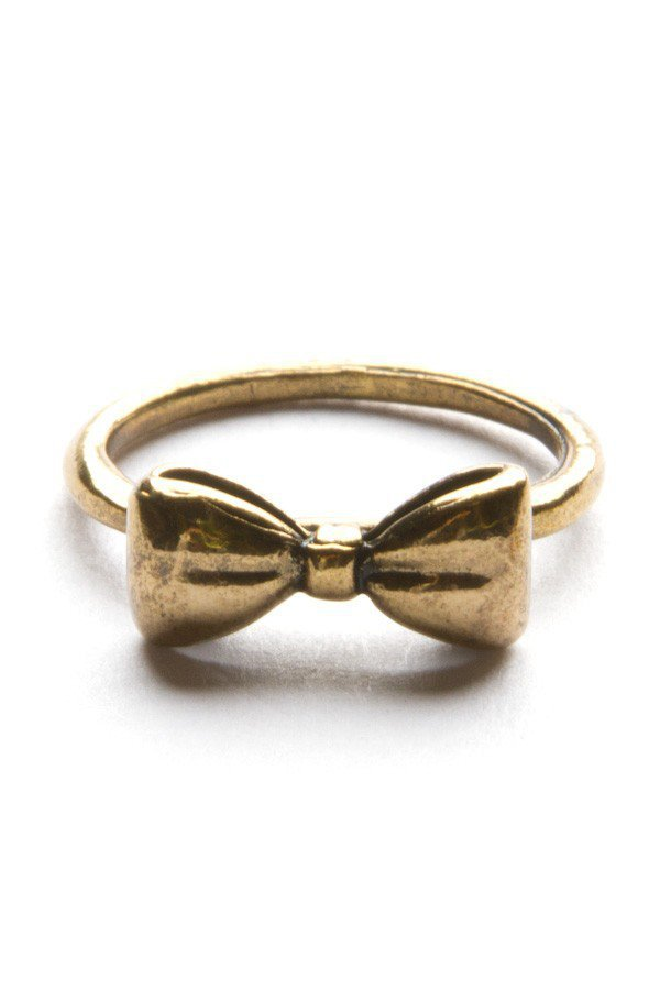 gold bow ring from melville rings