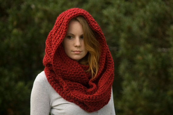 PATTERN Oversized Hooded Infinity Scarf from WellRavelled ...