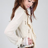 Chiffon Moto Jacket