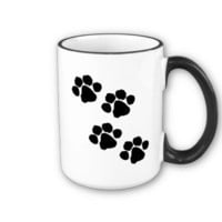 Paw Prints Coffee Mugs from Zazzle.com