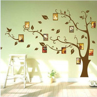 Winter Tree Wall Decal Nursery decal -Big Frame Tree in 4 colors