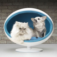 StyleTails - Aston Blue Padpod | Igloo Cat Bed | PadPod | Bark Miao | StyleTails