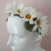 Daisy Hair Crown, Head Wreath