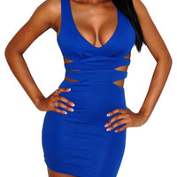 Fahrenheit (Blue)-Great Glam is the web's top online shop for trendy clubbin styles, fashionable party dress and bar wear, super hot clubbing clothing, stylish going out shirt, partying clothes, super cute and sexy club fashions, halter and tube tops, bel